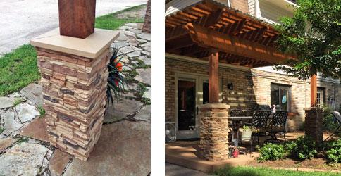 Easy-Faux Flagstone Columns Pergola Kits