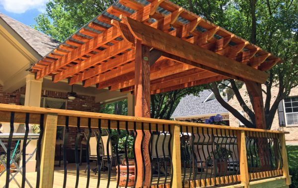 Sunset Universal Pergola Attachment System:Cedar Tone