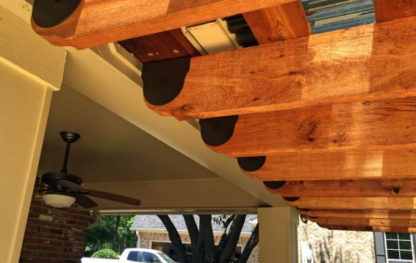 Sunset Universal Pergola Attachment System: Cedar Tone