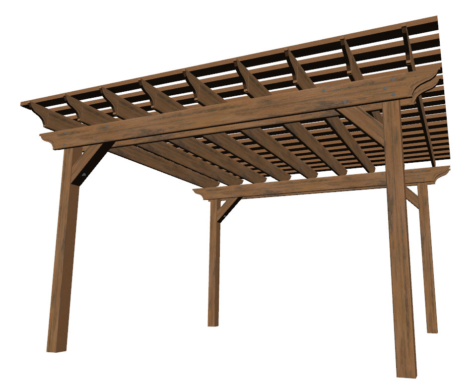 Freestanding pergola kit - 05