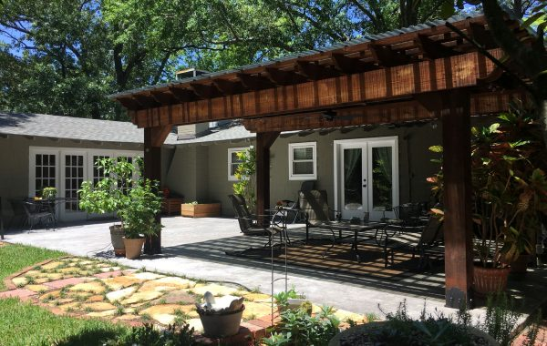 Attached Pergola Kit Backyard