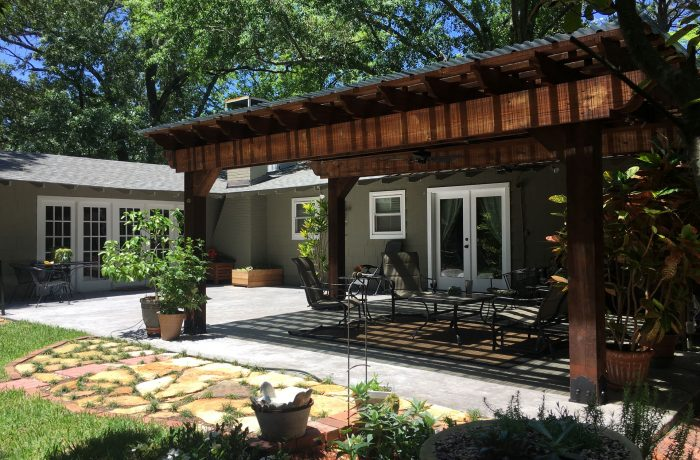 Attached Pergola Kit Backyard