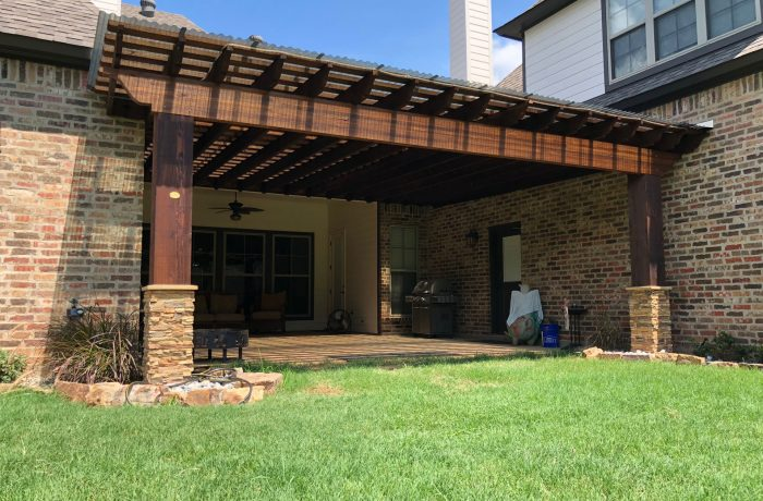 Backyard Attached Pergola Kit