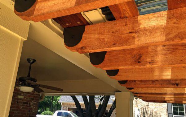 Sunset Universal Pergola Attachment System: Cedar Tone