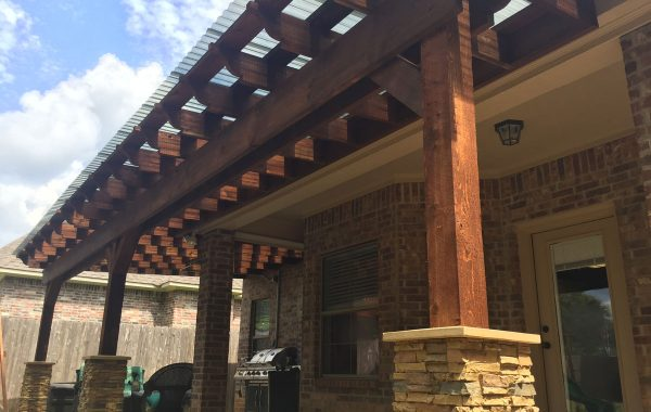 Attached: Faux Flagstone Columns
