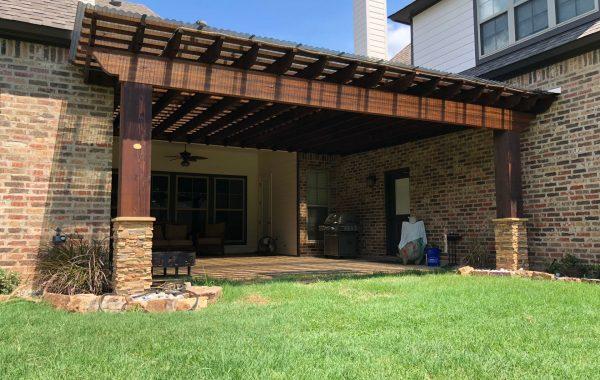 Backyard Attached Pergola Kit