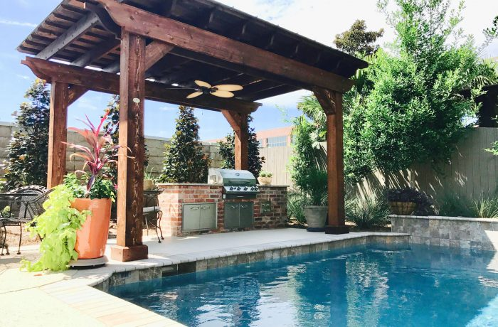 Freestanding by Pool