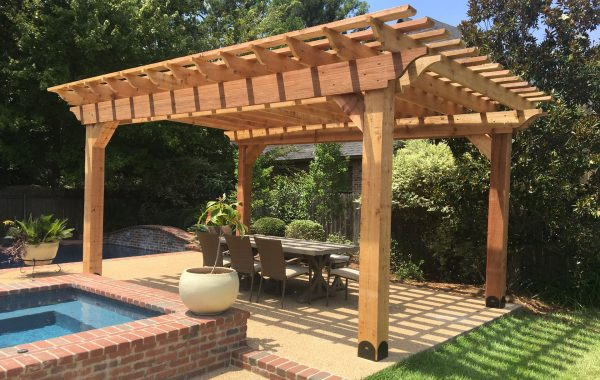 Pergola Kit with Outside Table